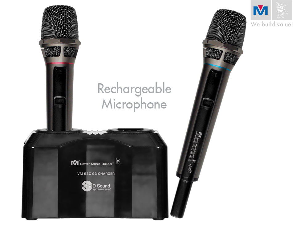 vm 93c g2 pro uhf rechargeable wireless microphone system discontinued better music builder. Black Bedroom Furniture Sets. Home Design Ideas