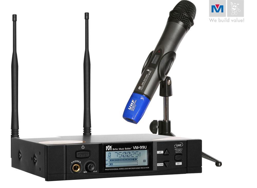 vm 99u professional uhf wireless microphone system better music builder. Black Bedroom Furniture Sets. Home Design Ideas