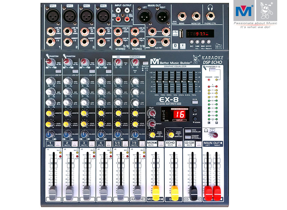 Ex 8 8 Channel Multi Effects Mixer Better Music Builder