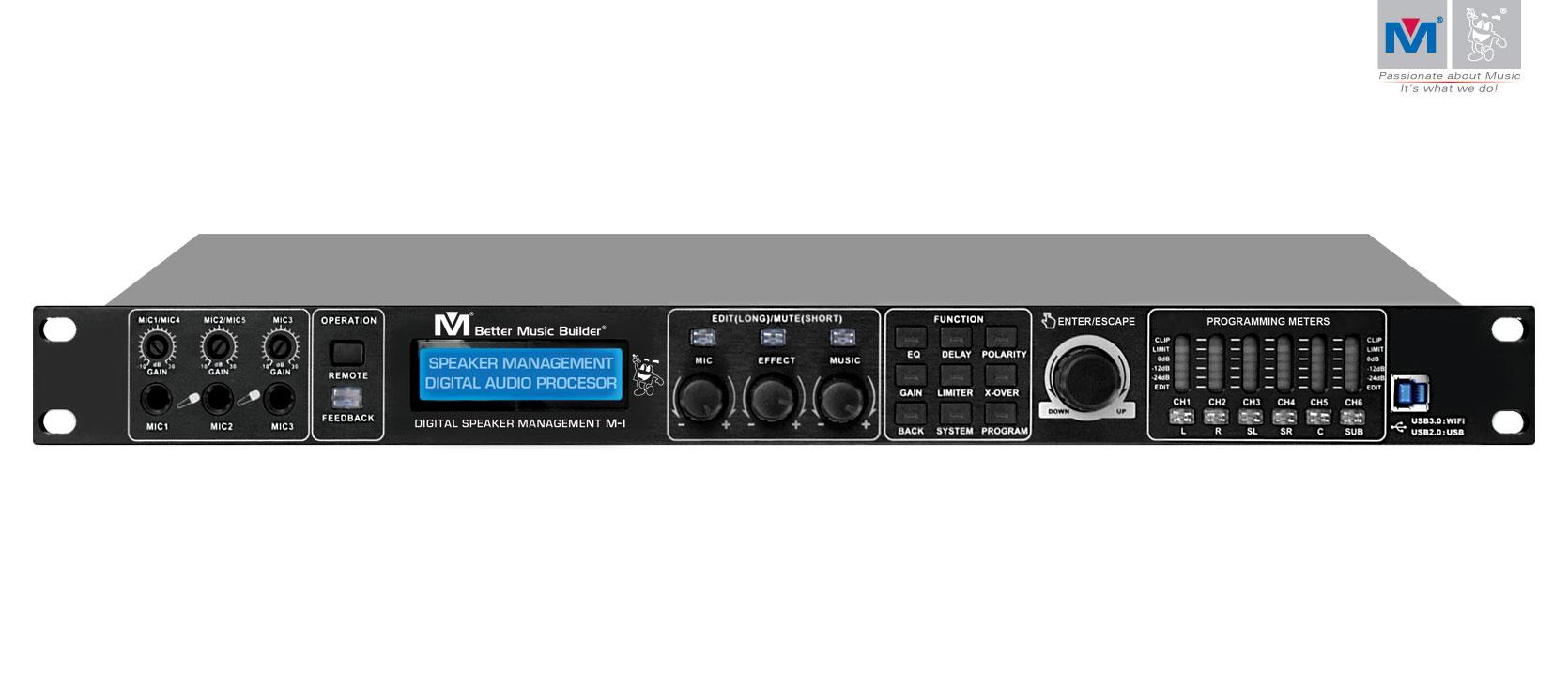 M 1 digital speaker management better music builder for Www builder